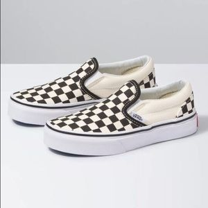 Vans Kids Slip On Checkered Sneaker 12.5
